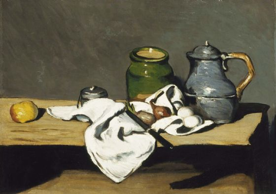 Cezanne, Paul: Still Life with Kettle. Fine Art Print/Poster. Sizes: A4/A3/A2/A1 (004232)
